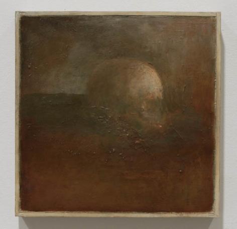 Skull in Landscape, 2011-2012, Oil on Panel