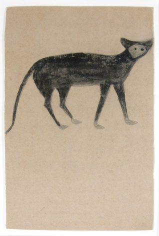 Cat, Pale Face, c. 1939-1942, Pencil and Poster Paint on Cardboard