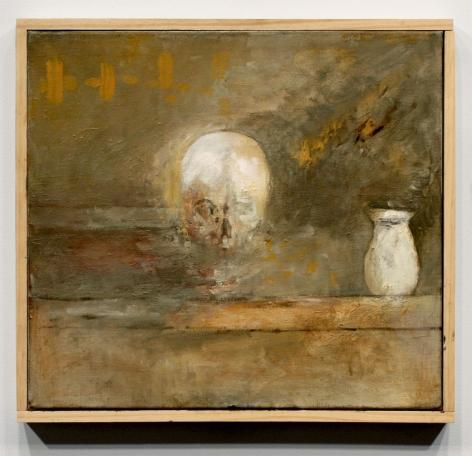 SKULL AND VASE (SOURCE), 2010, Oil on linen