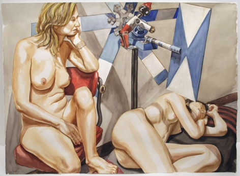 STUDY FOR TWO MODELS WITH, LARGE WHIRLYGIG 2, 2007
