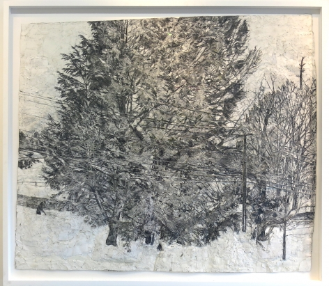 Hemlock Trees Seen from Upstairs, Window in the Snow, 2007-2014