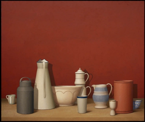 RED WALL, 2007, Oil on linen