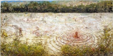 LAKE (MAN RIPPLES), 2004-08, oil on wood panel