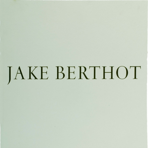 Jake Berthot Catalog