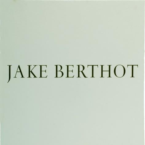Jake Berthot Catalog