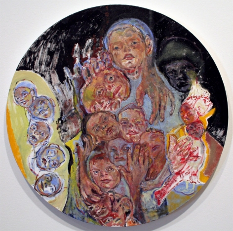 Oil painting by Judy Glantzman
