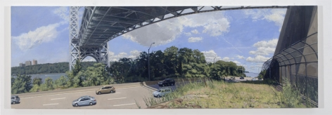 Traffic Under the George Washington Bridge, 2010, Oil on canvas