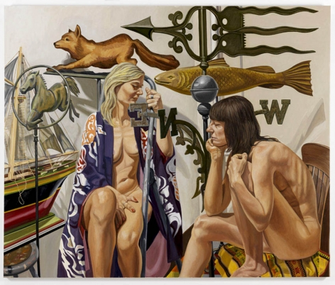 Two Models with Weathervane, Fox, Fish, Horse and Boat, 2008