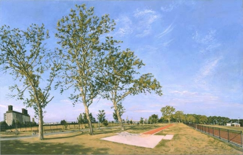 Oil painting by Rackstraw Downes