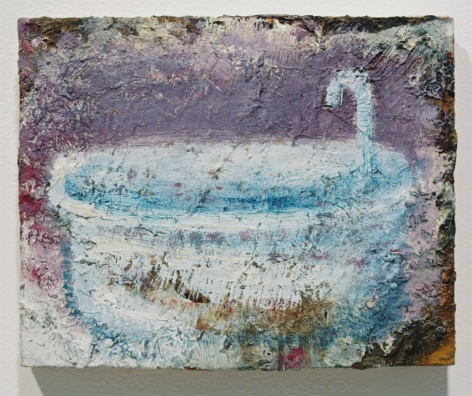 Bathtub, Study, 2008, Oil on wood