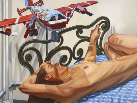 Oil painting by Philip Pearlstein