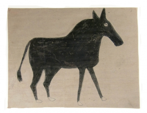 Young Mule, c. 1939-1942, Pencil and Poster Paint on Cardboard