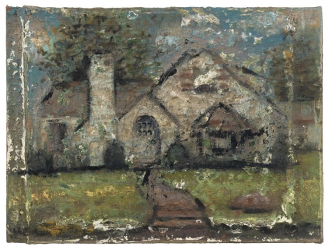 House in Denville, 1976-2011, Oil on canvas over panel