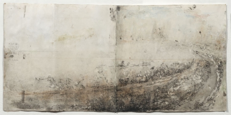ROAD IN UPPER MICHIGAN, 1982-2006, Pencil, ink and gouache on paper