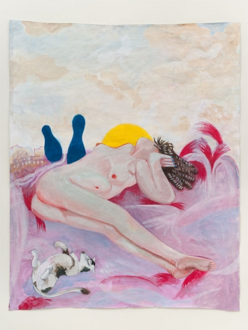 The Recliners, 2011, Acrylic on paper