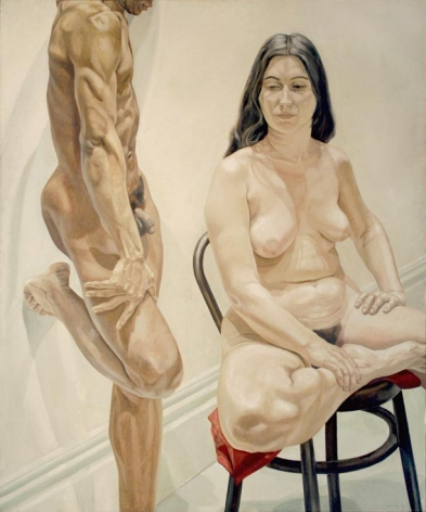 STANDING MALE, SITTING FEMALE NUDES, 1969, Oil on canvas