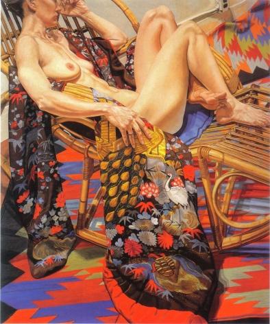 Image of Nude with Peacock Kimono