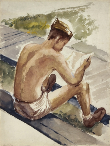Philip Pearlstein Training in Florida, Soldier Reading Letter, 1943-44