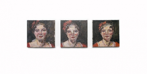 three paintings by Judy Glantzman