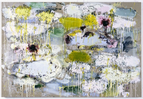 ALIZARIN AND ICE, 2006, Oil, acrylic, twigs, seeds, fabric, paper,
