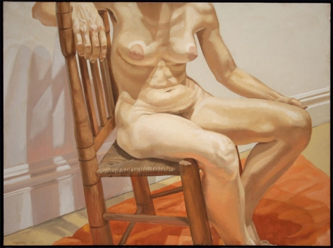 NUDE ON RUSTY CHAIR, 1969, Oil on canvas