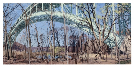 Henry Hudson Bridge in Early Spring, 2008, Oil on canvas