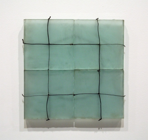 MESH, 1971, Etched glass and steel cable
