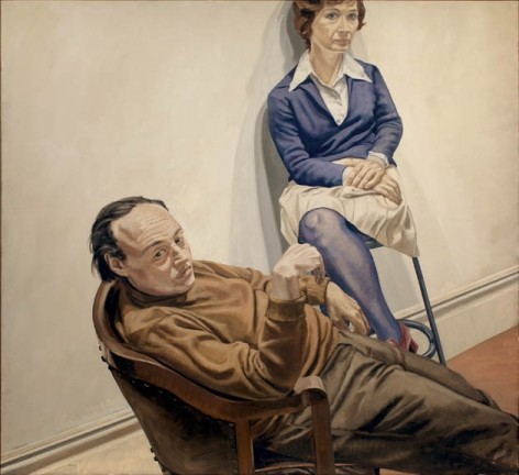 Philip Pearlstein, Portrait of Al Held and Sylvia Stone,1968