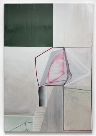 Untitled (with Green), 2013, Oil, pumice and latex on canvas