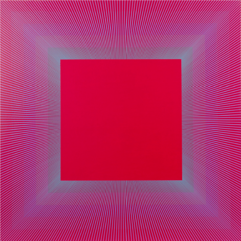 Rainbow Squared Red, 2019