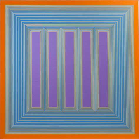 Temple of Lavender with Orange, 1983-2018