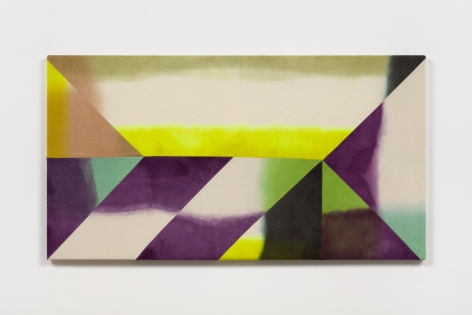 Wilder Alison (b. 1986)  su/phur—banded—t/hreat, 2021  Dyed wool and thread  72 x 134.5 cm / 28 1/4 x 53 in
