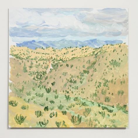 Esteban Cabeza de Baca  Sangre de Christo, 2021  Acrylic on canvas  30.5 x 30.5 cm / 12 x 12 in