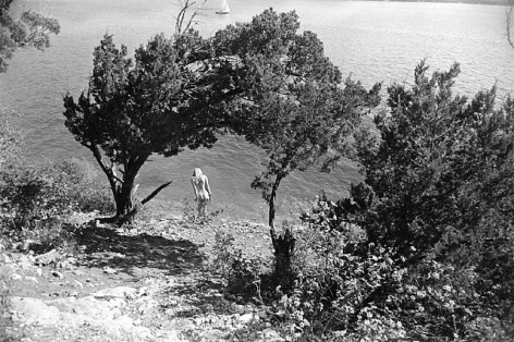 Gary Winogrand  Hippy Hollow, Lake Travis, Texas, from the series Women are Beautiful, 1973  Gelatin silver print  22.35 x 33.27 cm / 8 4/5 x 13 1/10  Framed: 40.64 x 51.44 cm / 16 x 20 1/4  Edition 67 of 80