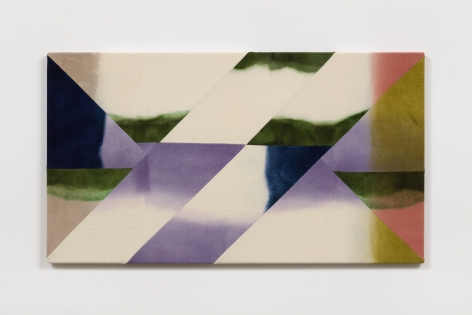Wilder Alison (b. 1986)  b/ink a rapid s/it— wa/shed darts—, 2021  Dyed wool and thread  72 x 130 cm / 28 1/4 x 51 in