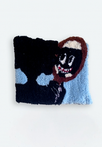 Qualeasha Wood  Fix Your Face, 2021  Tufted wool and acrylic  50.8 x 76.2 cm / 20 x 30 in