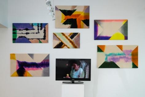 Wilder Alison Installation shot, $PLIT $UBJECT, Marlboro College 2018 Mixed media Dimensions variable