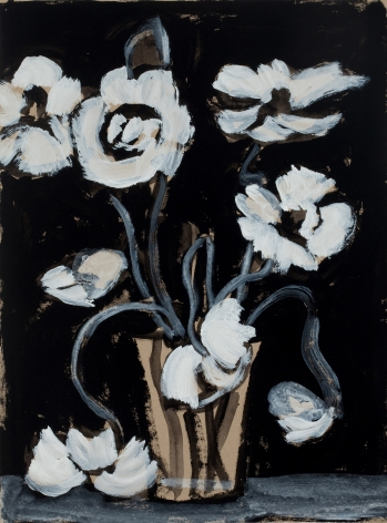 Marks - Black and White Poppy