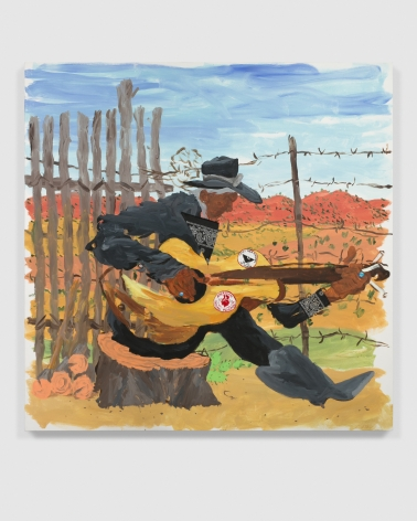 Esteban Cabeza de Baca  Guitarra, 2021  Acrylic on canvas  152.4 x 152.4 cm / 60 x 60 in