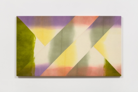 Wilder Alison (b. 1986)  archive the \stem/ recessed jaune—rose., 2020  Dyed wool and thread  80 x 140 cm / 31 1/2 x 55 in