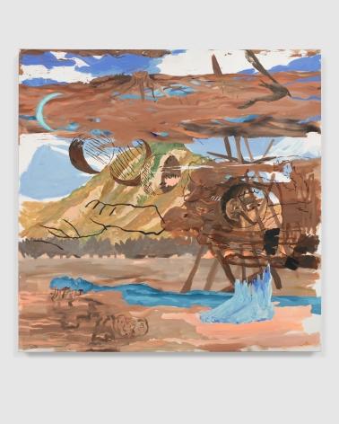 Esteban Cabeza de Baca  Homunculus, 2021  Acrylic on canvas  152.4 x 152.4 cm / 60 x 60 in