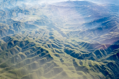 Barry Stone  California Overview on Descent into San Fransisco, 2015  Archival inkjet print  86.36 x 129.54 cm / 34 x 51 in Edition of 3 + 1 AP