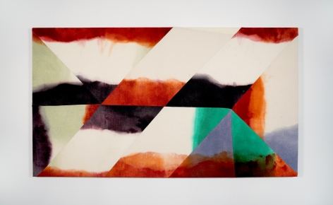 Wilder Alison Circ/u/late a b/lack spot—wet a/loan 2019 Dyed wool, thread 75 x 136 cm / 29 1/2 x 53.5 in