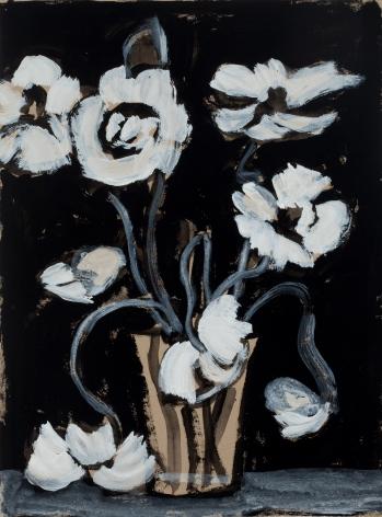 Marks - Black and White Poppy