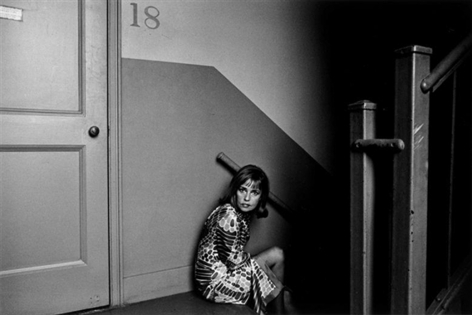 Duane Michals  Jeanne Moreau, 1967  Gelatin silver print  27.3 x 34.92 cm / 10 3/4 x 13 3/4 in  Framed: 46.35 x 53.34 cm / 18 1/4 x 21 in  Edition 7 of 25