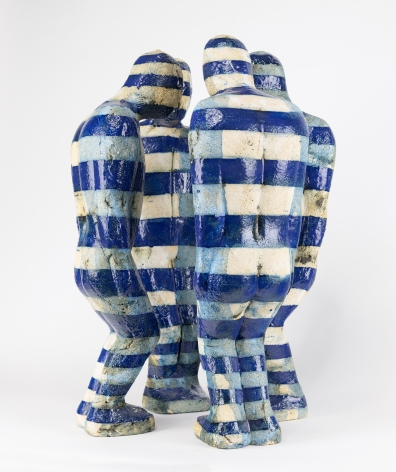 Perkin - Huddle with Blue Stripes