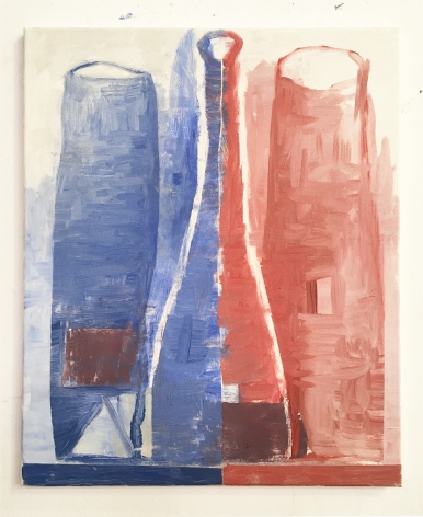 Whiting Tennis  Red and Blue Bottles, 2021