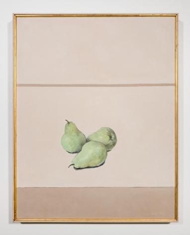 Sally Haley (1908-2007)  Untitled (three green pears)
