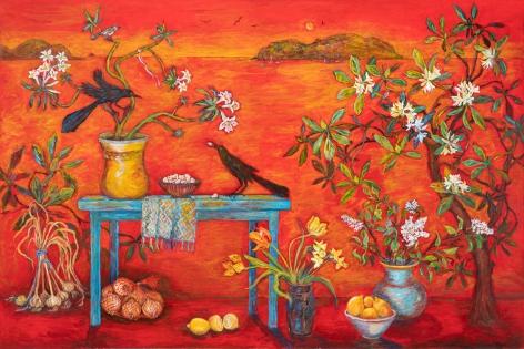 Kim Osgood (b. 1955)  Harmony in Red, 2020