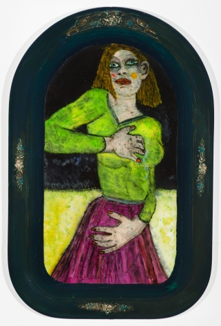 Gregory Grenon (b. 1948)  Just Pretending, 2018  oil on curved glass